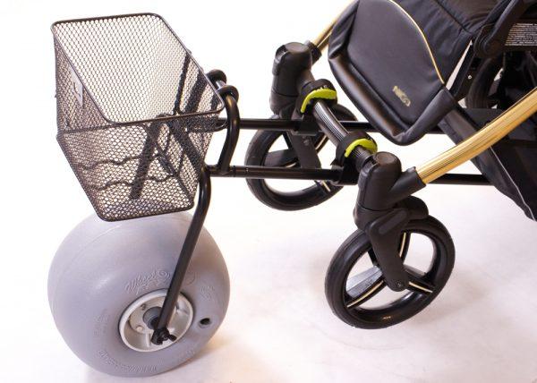 Adapter do wózka dziecięcego na plażę