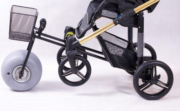 Dostawka do wózka dziecięcego na plażę